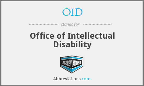 OID - Office of Intellectual Disability