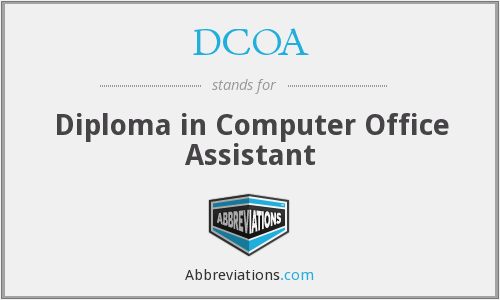 DCOA - Diploma in Computer Office Assistant
