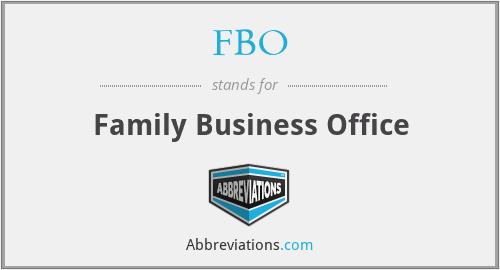 FBO - Family Business Office