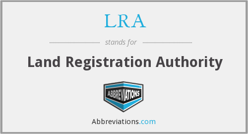LRA - Land Registration Authority