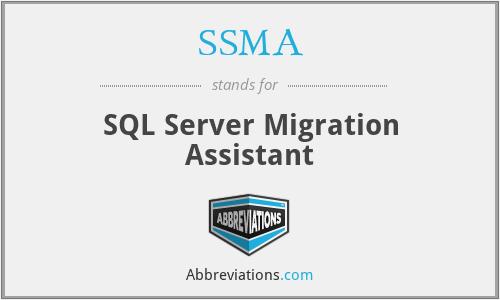 SSMA - SQL Server Migration Assistant