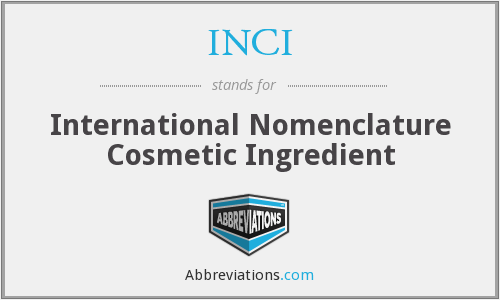 What does INCI stand for?
