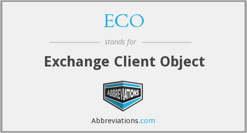 ECO - Exchange Client Object
