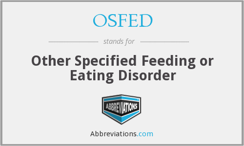 What does OSFED stand for?