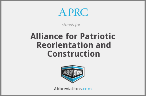 APRC - Alliance for Patriotic Reorientation and Construction