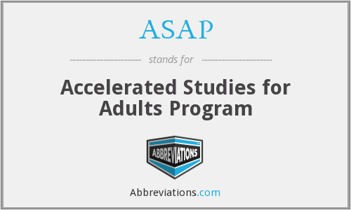 ASAP - Accelerated Studies for Adults Program