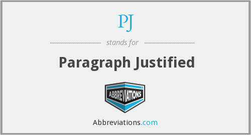 PJ - Paragraph Justified