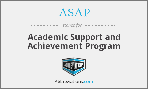 ASAP - Academic Support and Achievement Program