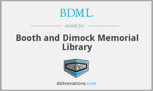 BDML - Booth and Dimock Memorial Library