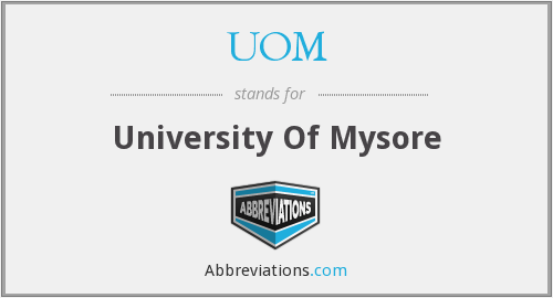 UOM - University Of Mysore