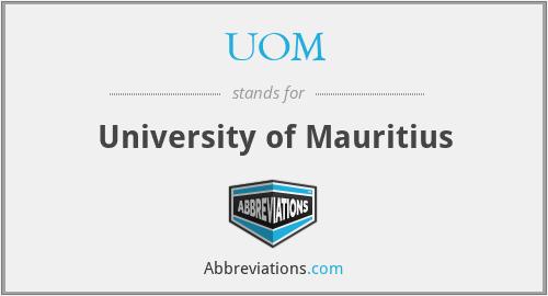 UOM - University of Mauritius