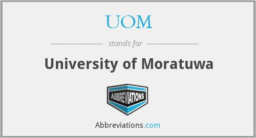 UOM - University of Moratuwa