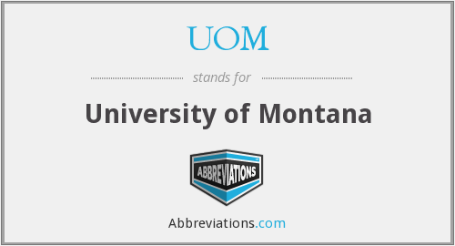 What does UOM stand for?