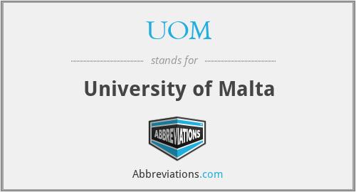 UOM - University of Malta