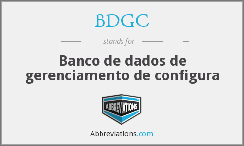 What does BDGC stand for?