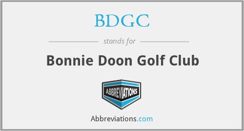 BDGC - Bonnie Doon Golf Club
