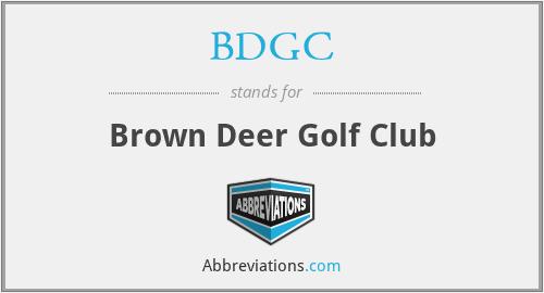 BDGC - Brown Deer Golf Club