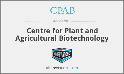 CPAB - Centre for Plant and Agricultural Biotechnology