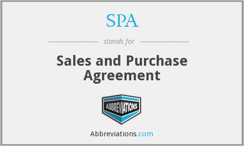 SPA - Sales and purchase agreement