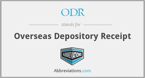 ODR - Overseas Depository Receipt