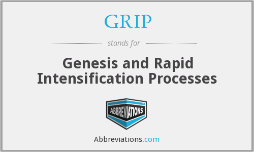 GRIP - Genesis and Rapid Intensification Processes