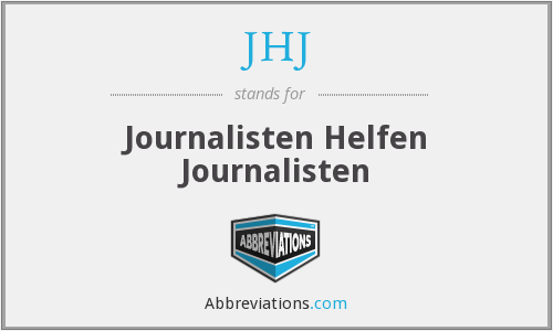 JHJ - Journalisten Helfen Journalisten
