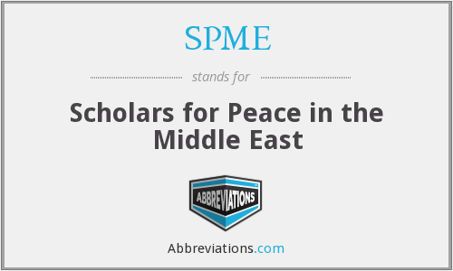 SPME - Scholars for Peace in the Middle East