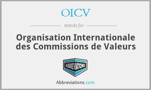 OICV - Organisation Internationale des Commissions de Valeurs