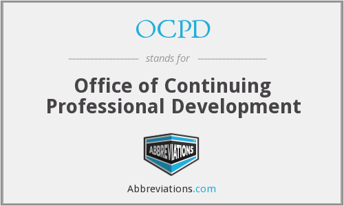 OCPD - Office of Continuing Professional Development