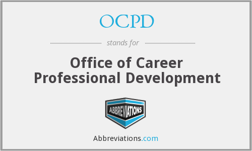 OCPD - Office of Career Professional Development