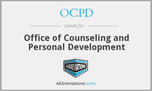 OCPD - Office of Counseling and Personal Development