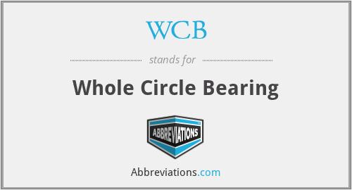 WCB - whole circle bearing