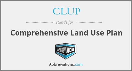 CLUP - Comprehensive Land Use Plan
