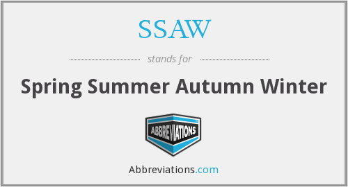 What does SSAW stand for?