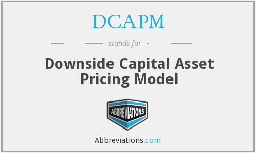 What does DCAPM stand for?