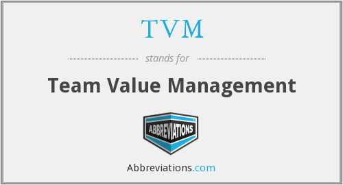 TVM - Team Value Management