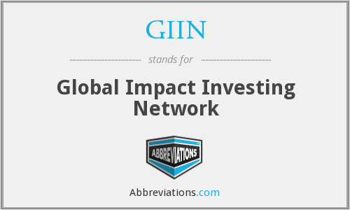 GIIN - Global Impact Investing Network