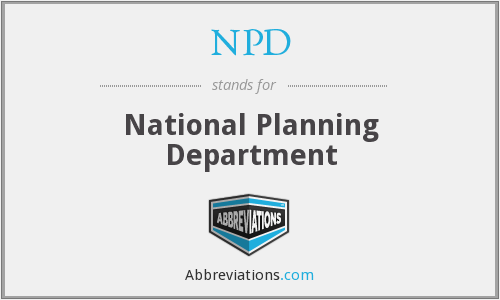 NPD - National Planning Department