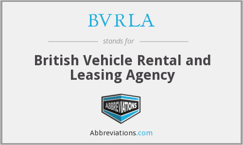 BVRLA - British Vehicle Rental and Leasing Agency