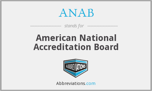 What does ANAB stand for?