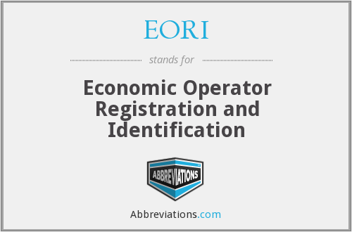 What does EORI stand for?