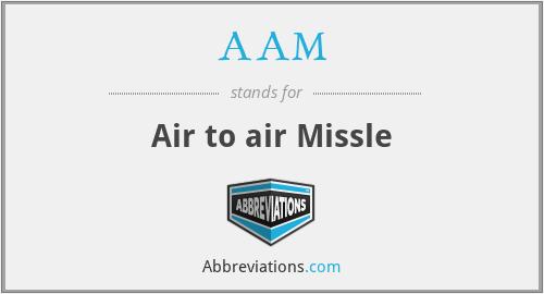 AAM - Air to air Missle