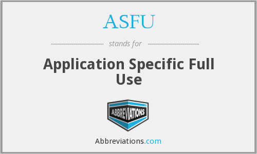 What does ASFU stand for?