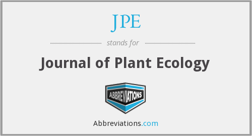 JPE - Journal of Plant Ecology