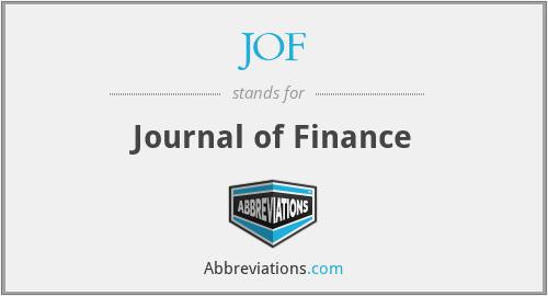 JOF - Journal of Finance
