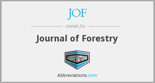 JOF - Journal of Forestry