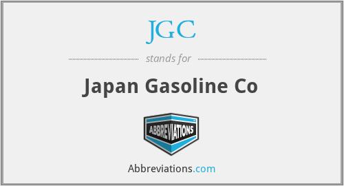 JGC - Japan Gasoline Co