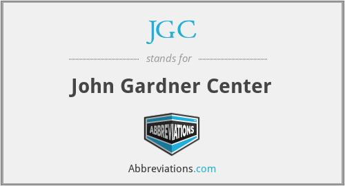 JGC - John Gardner Center