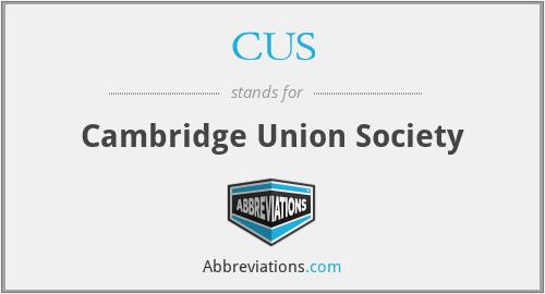 CUS - Cambridge Union Society