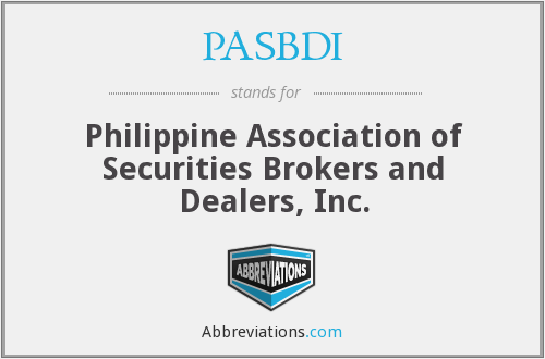 PASBDI - Philippine Association of Securities Brokers and Dealers, Inc.